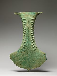 Ceremonial Vessel in the Shape of an Ax Head Period: Bronze and Iron Age Date: ca. 500 B.C.–A.D. 300
