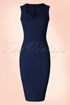 Draag deze 50s Veronica Pencil Dress sexy of classy!  Wow, wat een schoonheid! Deze vintage geïnspireerde beauty…