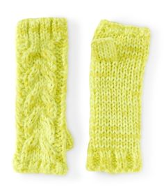 Fingerless Cable Knit Gloves