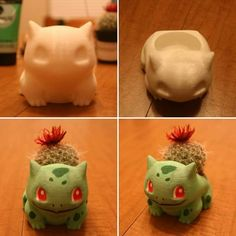 printer design printer projects printer diy Crafts Crafts printed and then painted bulbasaur pokemon. You could probably recreate somet. Clay Crafts, Diy And Crafts, Stylo 3d, 3d Printer Designs, 3d Printer Projects, Pokemon Craft, 3d Printing Business, Kawaii Room, Geek Decor