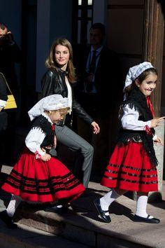 Princess Letizia of Spain visits the village of Teverga on 26.10.13 in Asturias, Spain. The village of Teverga was honoured as the 2013 Best Asturian Village.