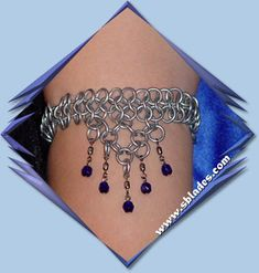 Hexmaile armlet jewelry, Chain-mail belly dance arm jewelry for bellydance costumes by Chainmail & More