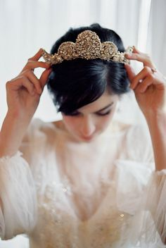 Moody Castle Bridal Inspiration - wedding crown | bridal tiara