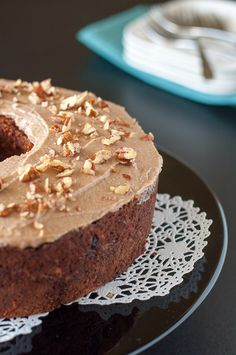Paleo Carrot Cake with Maple Pecan Glaze. Original recipe from Detoxinista. Fabulous!
