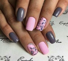 cute Spring Nail Designs – Pretty Spring Nail Art Ideas 2018 Best Picture For white nails For Your Taste You are looking for something, and it is Nail Art Design Gallery, Best Nail Art Designs, Nail Designs Spring, Cute Spring Nails, Spring Nail Art, Toe Nails, Pink Nails, Gray Nails, Glitter Nails