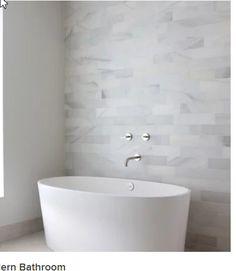 Grey Modern Bathrooms, White Bathroom Tiles, Tub Tile, Yellow Bathrooms, Modern Bathroom Design, Small Bathroom, Gray Tiles, Dream Bathrooms, Bathtub Decor