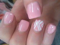 Gel manicure classy pink