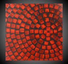 60 x 60 pintura acrílico abstracta original Art Deco