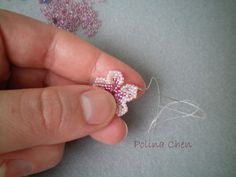 Flower on one thread | biser.info - all about beads and bead work