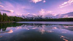 Reflections at Herbert lake by David Dai            David Dai: Photos                                 #nature #photography