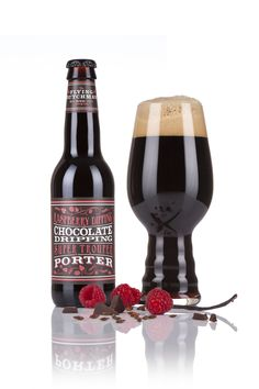 Porter brewed with fresh rapsberries, cocoa nibs and vanilla beans. Refreshing with a sour bite. Vanilla Beans, Flying Dutchman, Chocolate Drip, Cocoa Nibs, Beer Brewing, Brewing Company, Craft Beer, Brewery, Wine Rack