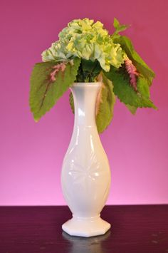 Wedding Vintage White Milk Glass Bud Vase Beautiful  by ClassicCabin on etsy
