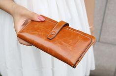 Genuine leather wallet women wallet womens purse clutch bag women wallet leather on Etsy, $34.90