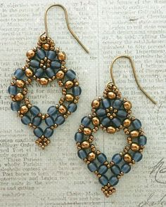 Linda's Crafty Inspirations: Princess Earrings - Montana Blue