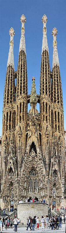 Designed by Catalan architect Antoni Gaudí (1852–1926). Sagrada Família, Barcelona , Spain