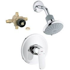 Grohe K35020-35015R-000 Eurosmart Shower/Tub Faucet with Rough-in, Starlight Chrome