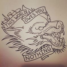 wolf tattoo on Tumblr