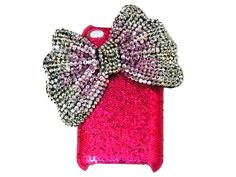 iPod Touch 4 Case, Pink Silver Bow iPod
