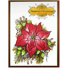 Scrapbook Flair: Create a Poinsettia with Stampendous and Chameleon Collaboration
