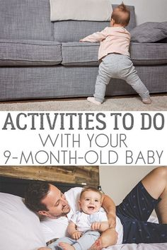 Discover these simple and fun ideas for activities to do at home with your baby to help their development and have fun together. # home activities for 9 month old Fun and Simple Activities to do with your Baby 8 Month Old Baby Activities, Fun Activities To Do, Rainy Day Activities, Infant Activities, 9 Month Milestones Baby, Nursery Activities, Montessori Activities, Baby Sensory Play, Baby Play