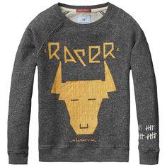 Scotch Shrunk Crew neck Sweater with Rocker Artworks Scotch Soda, Scotch Shrunk, Sweat Shirt, Super Skinny, Skinny Fit, Daddys Little, Denim Shirt, Boy Fashion, Boy Outfits