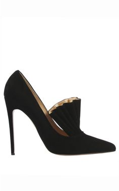 Bionda Castana Daphne Bis Black Suede Pump by Bionda Castana for Preorder on Moda Operandi