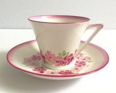 Pink Standard China Tea Cup & Saucer Teacup Duo