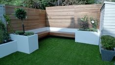 Hardwood Privacy Screen Trellis Fence London | London Garden Design