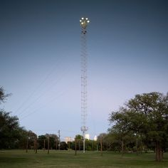 Austin's 17 remaining towers are the only moontowers in the world that are still operable (photo courtesy of Andy Mattern).