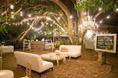 Some of my favorite outdoor lighting design! I love this fairy-land look for the spring season. It's a cheap and easy way to update an outdoor entertaining space that you can do yourself. Outdoor lighting is key to create inviting and functional spaces. The string lights highlight the nature surrounding this fun space and do a great job at keeping the space well lit into the night. For more outdoor design inspiration and outdoor lighting options visit the blog at modernlantern.com.