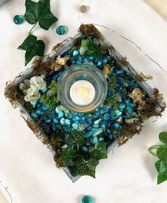 Di's Studio Designs nature inspired handcrafted decorative home decor Summer Table Decorations, Candle Holder Decor, Candles And Candleholders, Faux Plants, Nature Inspired, Shopping Mall, Decorative Items, Christmas Ornaments, Studio