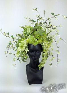 Awaken your inner Goddess with Miss G Design& handmade headdress collection. Floral Headdress, Party Set, Arte Floral, Plant Design, Green Flowers, Flower Crown, Garden Art, Flower Power, Floral Arrangements