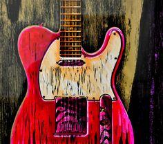 S�rie de gravure �chelle 1, de la mythique guitare rock Fender Telecaster. [gallery link=