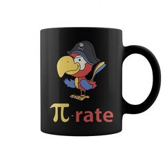 Pi Rate Pirate Mug LIMITED TIME ONLY. ORDER NOW if you like, Item Not Sold Anywhere Else. Amazing for you or gift for your family members and your friends. You'd sure look nice in one of our shirts! Cool Tees, Cool T Shirts, New Shirt Design, Shirt Designs, Pi Math, Pi Day Shirts, Geek Tech, Vintage Shirts, Tshirts Online