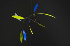 """Mobile """"Green Leaf with blue"""""""