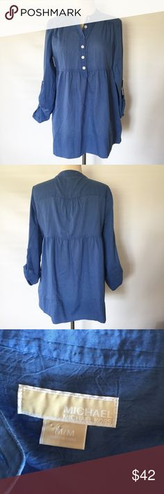 MICHAEL KORS CHAMBRAY TUNIC NWOT roll up sleeves. MICHAEL Michael Kors Tops Tunics