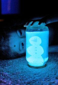 The other day I got it in my head to make a glowing snow globe.  We love glowing ...