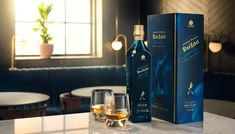Johnnie Walker Blue Ghost and Rare Scotch Whisky photography Scotch Whisky, Red Bull, Coffee Maker, Canning, Drinks, Blue, Photography, Packaging, Google Search