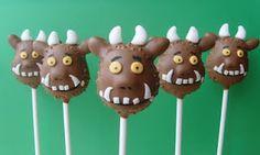 Gruffalo Pops by Popcake Kitchen Gruffalo Party, The Gruffalo, Gruffalo Movie, Kids Party Snacks, Cute Snacks, 3rd Birthday Cakes, Boy Birthday Parties, Birthday Ideas, Twin Boys Birthdays