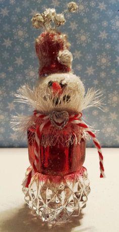 Vintage Salt Shaker Snowman Cecilia by SimplyTheGlitter on Etsy