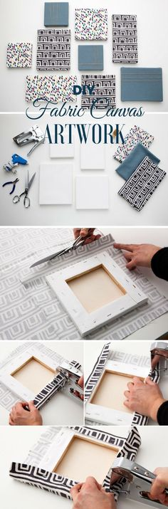 awesome cool Check out the tutorial: #DIY Fabric Canvas Artwork Industry Standard Design... by www.danaz-home-de...
