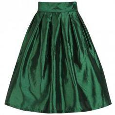 'Marnie' Emerald Green Circle Skirt