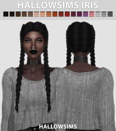 HallowSims Iris hair for The Sims 4