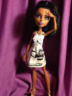 NCC1701  Monster High Dress OOAK by MoreMeKnow on Etsy, $13.00