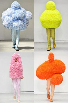 Walter Van Beirendonck x Erwin Wurm, spring/summer 2012. Who doesn't love role-playing a sentient LSD-broccoli?