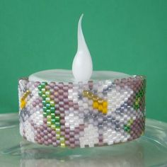 Easter Lily Tea Light Cover / Napkin Ring | Bead-Patterns