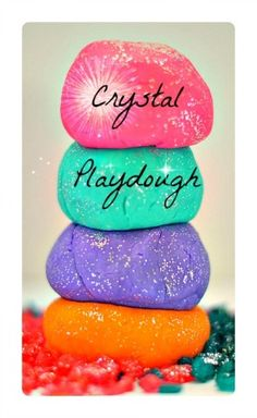 Crystal Playdough Recipe We are very excited to share this simple playdough recipe and playdough play idea with you all simply because of the gorgeousness of it all! Well, we are lovers of all things Sensory Activities, Preschool Activities, Sensory Play, Crafts For Kids, Diy Crafts, Homemade Playdough, Messy Play, Art Plastique, Projects To Try