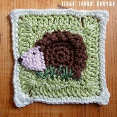 Granny squares with animal motifs