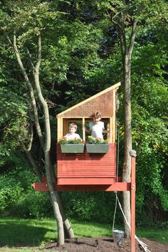 I want a miniature tree house for book reading and secret telling