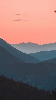 Mountains, horizon, forest, sunset, dusk, 720x1280 wallpaper